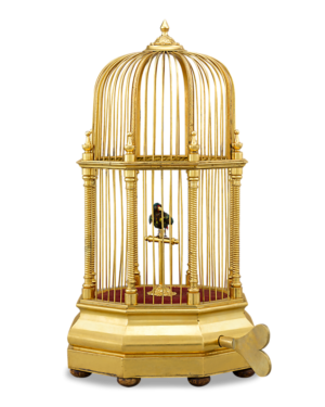 Swiss Singing Caged Bird Automaton, Circa 1860