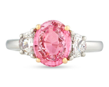A Padparadscha Sapphire Ring