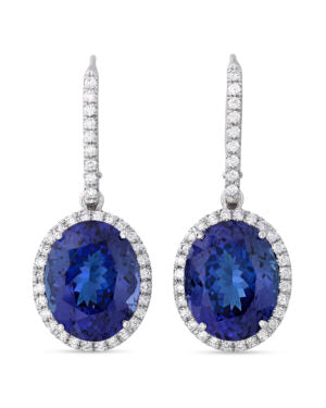 Tanzanites can often display pleochroism, or the ability to show different body colors from various viewing angles