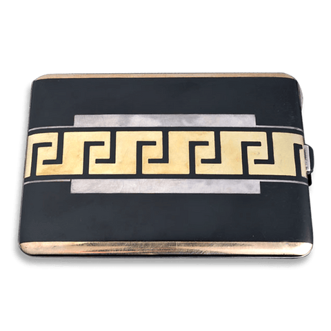 Art Deco Gold and Enamel Cigarette Case