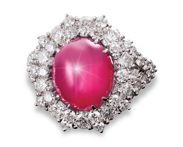 An Untreated Star Ruby Ring, 11.07 Carats