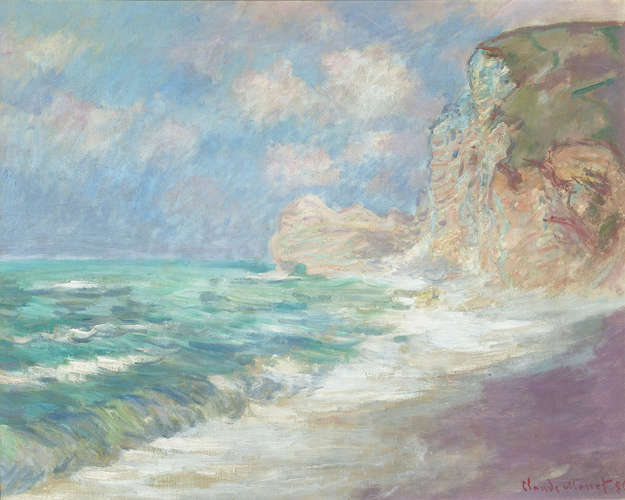 Falaise et Porte d'Amont par Gros Temps by Claude Monet