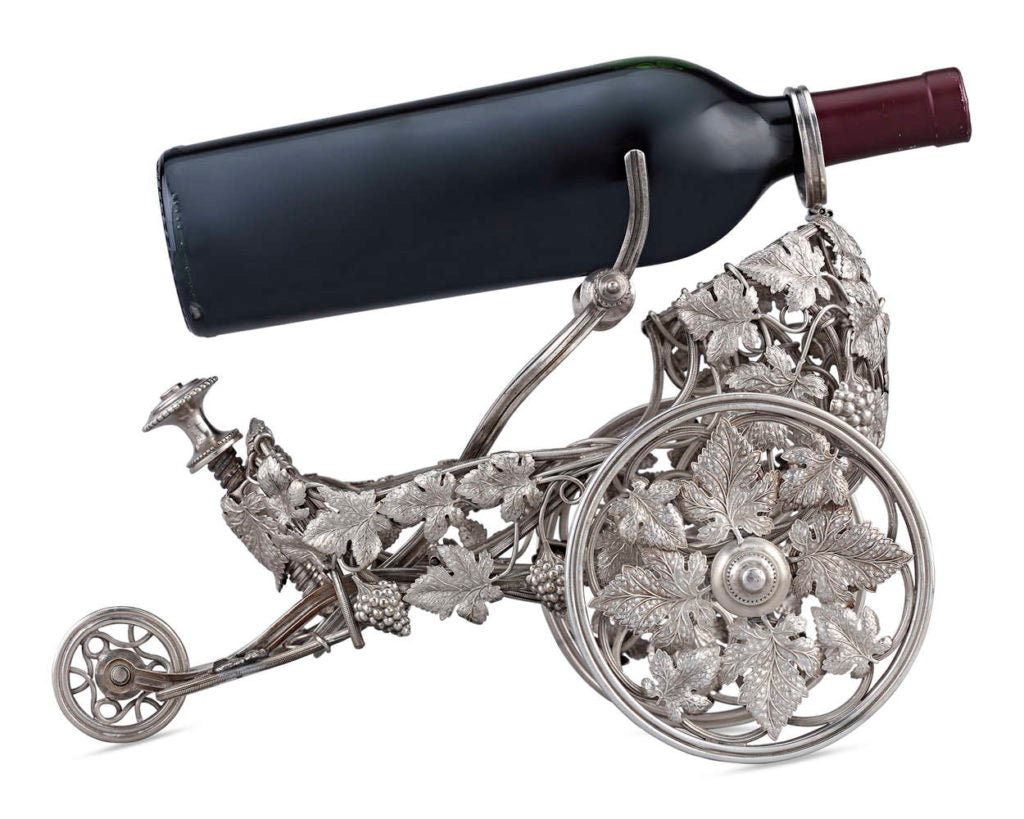 Silverplate Wine Trolley by Christofle, circa 1890