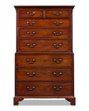 Chest on chest by master cabinetmaker, Thomas Chippendale.