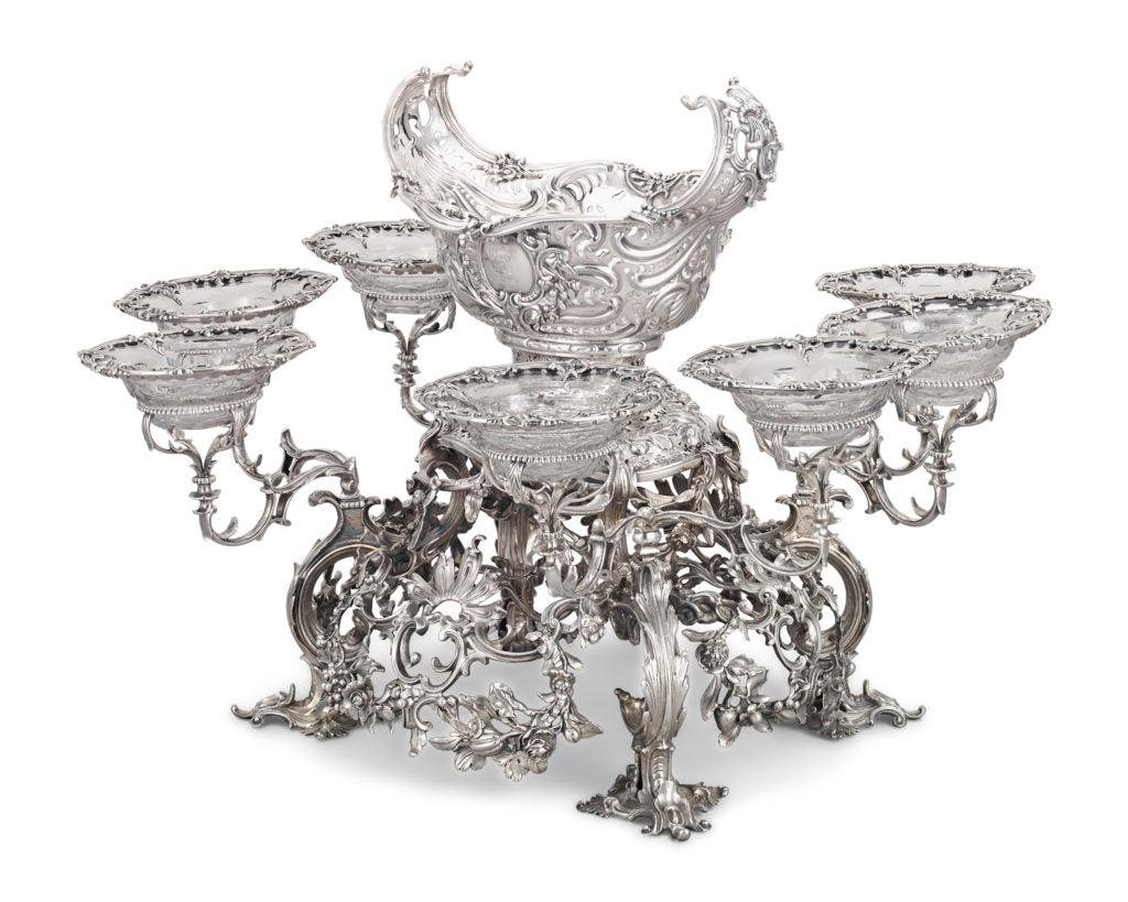 George II Silver Epergne by Thomas Gilpin