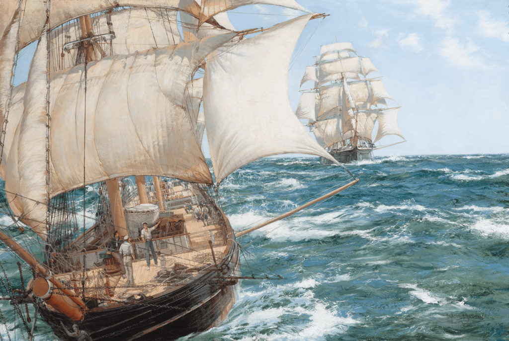 Racing Home by Montague Dawson