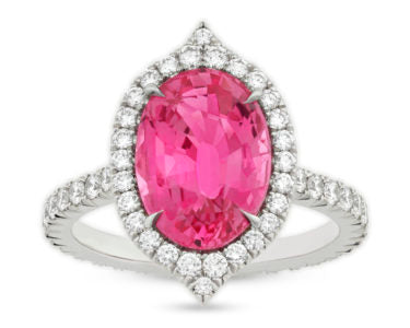 An Untreated Pink Sapphire Ring