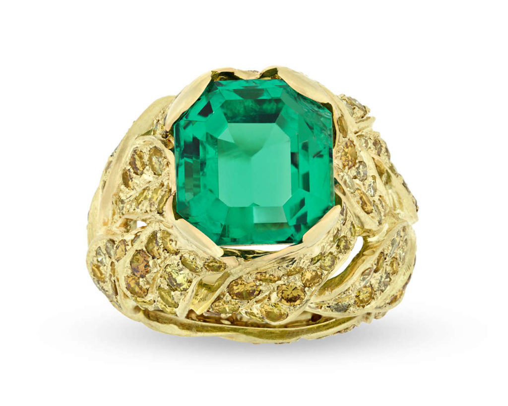 Fred Leighton Colombian Emerald Ring