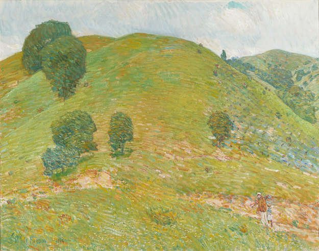 California Hills in Spring (The Little Vineyard) by Childe Hassam