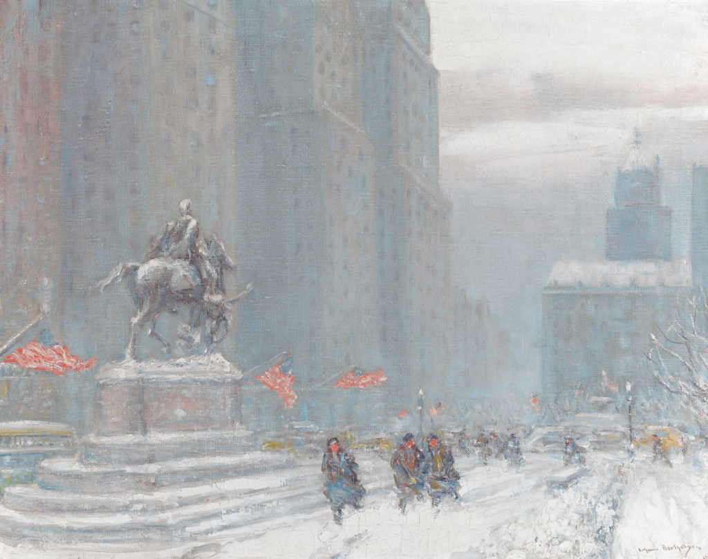 Grand Army Plaza with Statue of General Sherman by Johann Berthelsen