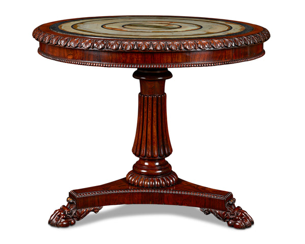Pietra Paesina Specimen Table Attributed to Gillows (https://rauantiques.com/collections/furniture/products/pietra-paesina-specimen-table-attributed-to-gillows?variant=34804313718919). Circa 1820 (M.S. Rau, New Orleans)