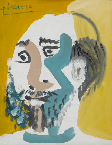 Tête d'Homme Barbu V by Pablo Picasso, Dated 1965, M.S. Rau