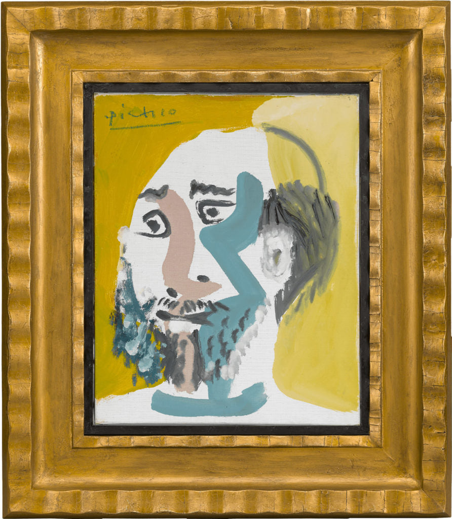 Tête d'Homme Barbu V (Head of Bearded Man) Pablo Picasso. Dated 1965. M.S. Rau.