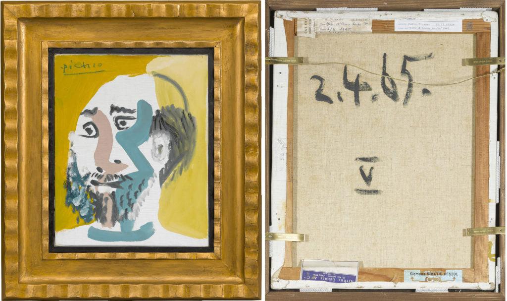 Tête D'Homme Barbu V By Pablo Picasso. Dated 1965
