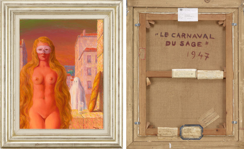 Le Carnaval Du Sage By René Magritte. Dated 1947