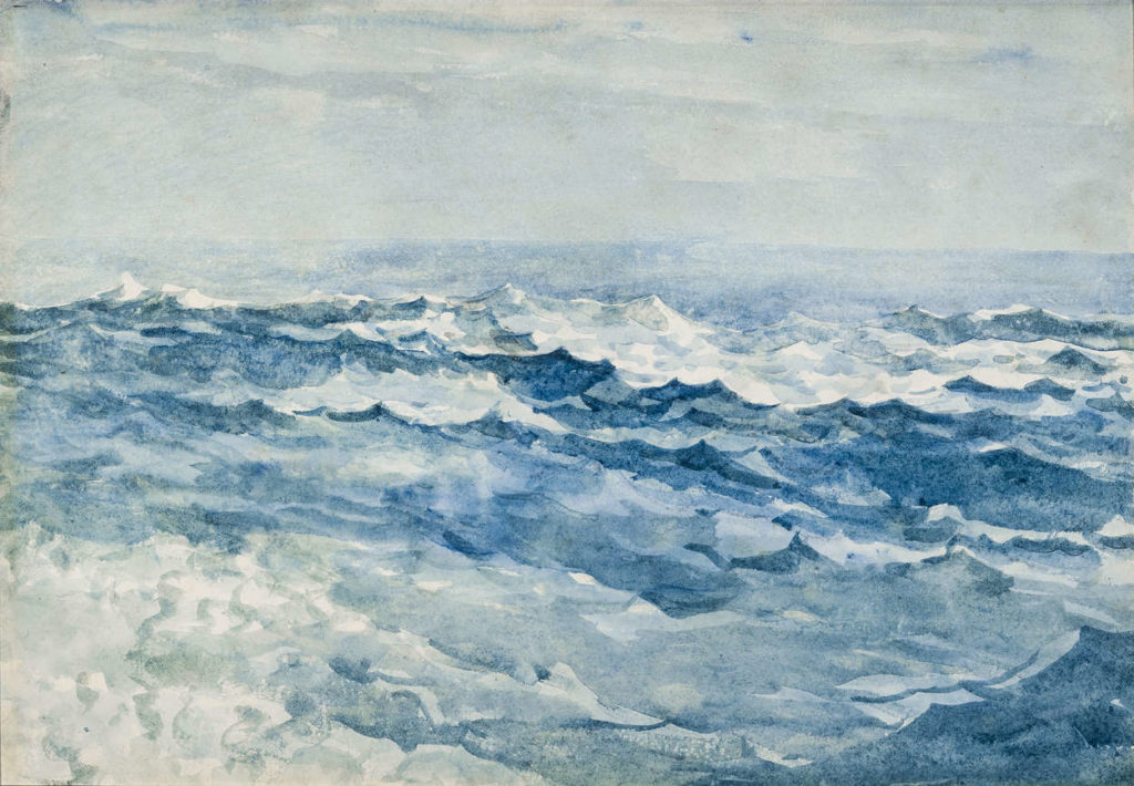 Light Blue Sea at Prouts Neck by Winslow Homer