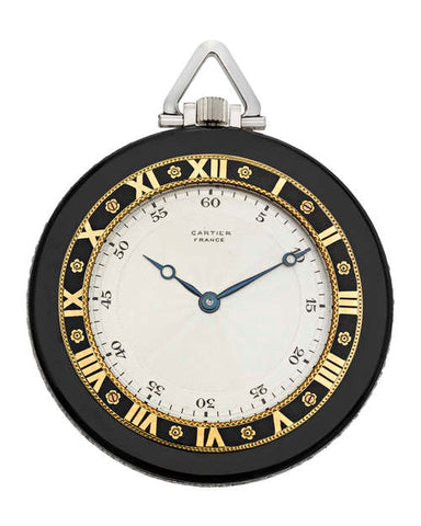 Art Deco Onyx Pocket Watch by Cartier