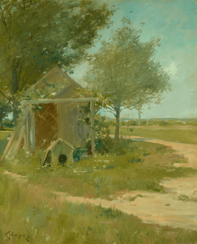 The Back Yard Shinnecock by William Merritt Chase