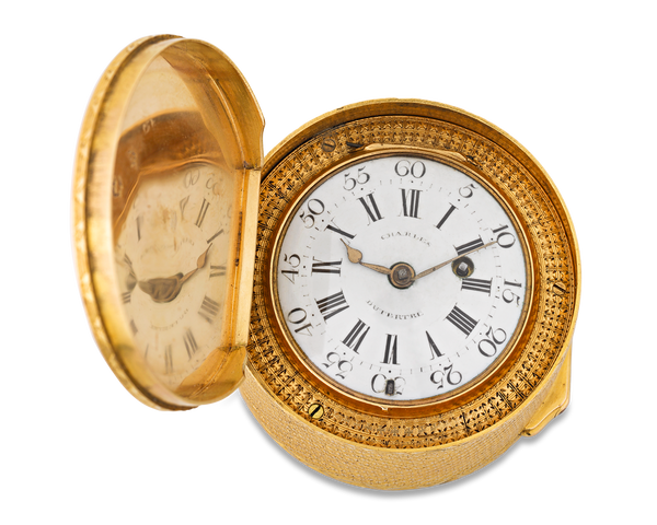 Louis XVI-period French gold pocket watch and snuff box, 1752