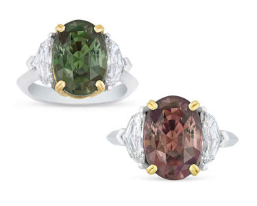 Color-Changing Alexandrite Ring, 6.08 Carats