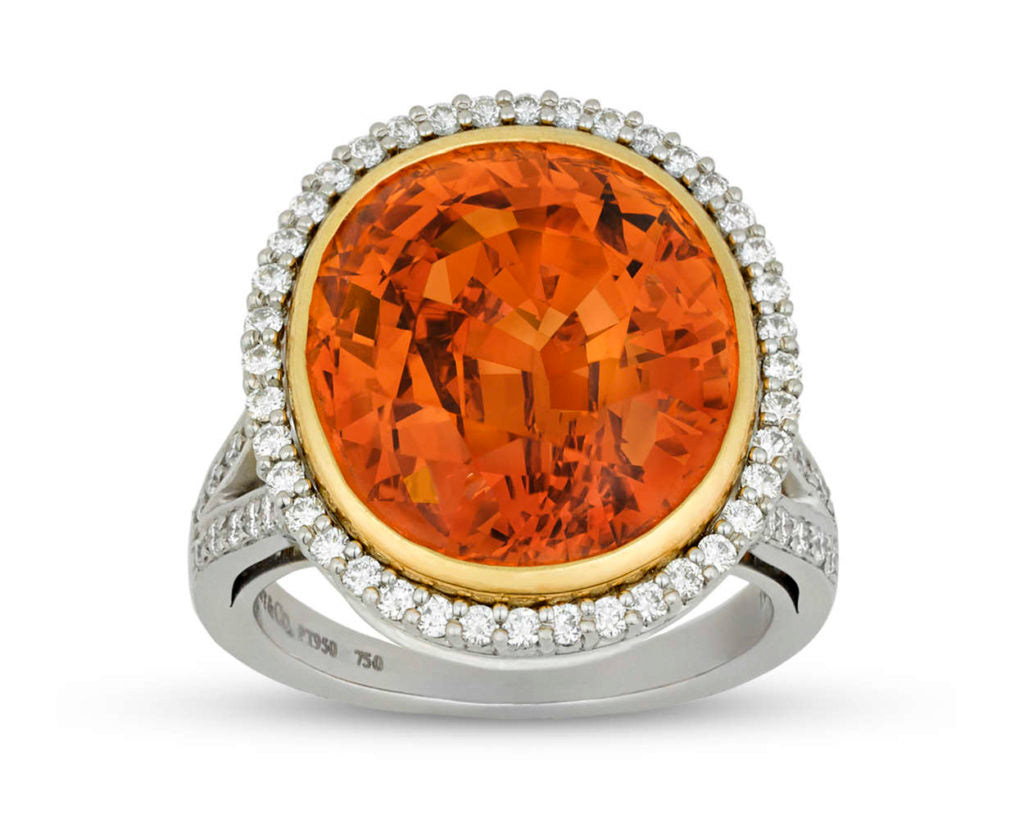 A stunning Spessartite Garnet engagement ring by Tiffany & Co.