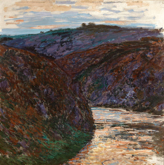 Ravin de la Creuse by Claude Monet, oil on canvas, 1889