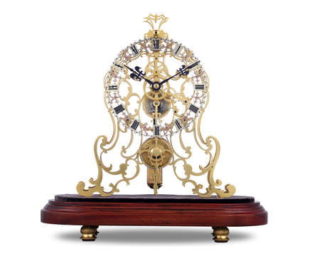 English Arabesque Skeleton Clock by Evans of Handsworth