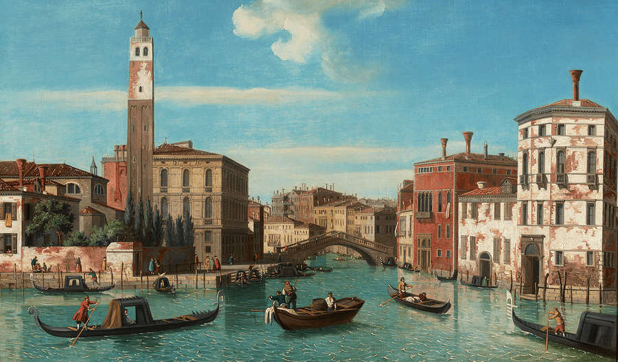 View of the Grand Canal by William James, 18th century.