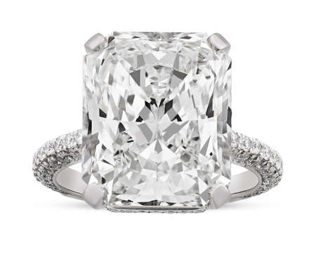 31-0494 Radiant-Cut Diamond Ring, 10.03 Carats