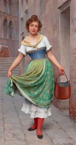 The Water Carrier by Eugen von Blaas, circa 1902