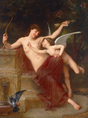 'Amour Désarmé (Love Disarmed) by Émile Munier, circa 1886