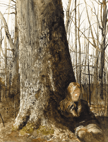 Seated by a Tree (1973) by Andrew Wyeth