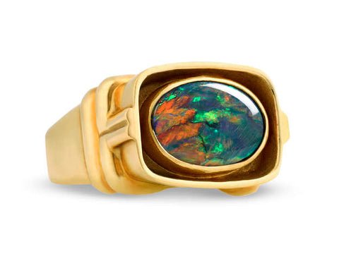 31-1306 Men's Lightning Ridge Opal Ring