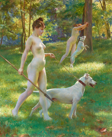 Nymphes Chasseresses by Julius LeBlanc Stewart, dated 1898