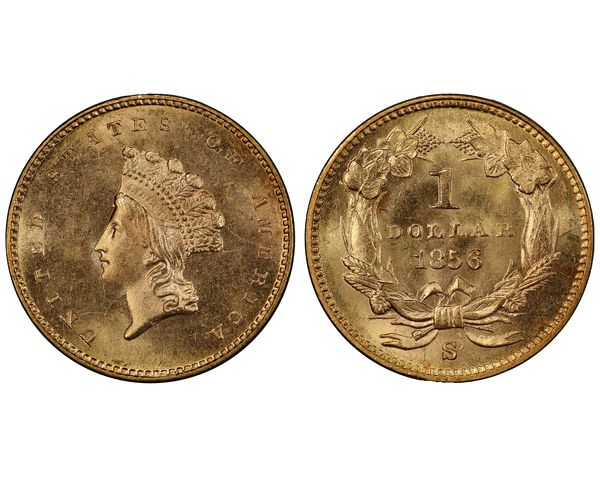 1856 $1 Gold Piece salvaged from the S.S. Central America Shipwreck
