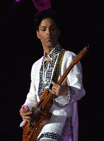 Prince performing at Coachella