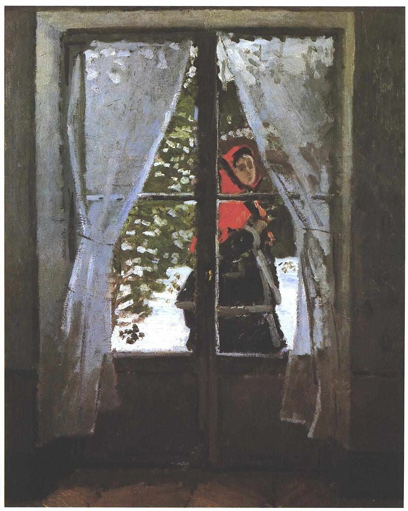 The Red Kerchief (Portrait of Madame Monet) by Claude Monet, 1867