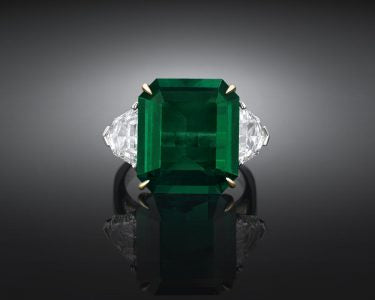 Incredible 9.28-Carat Colombian Emerald Ring