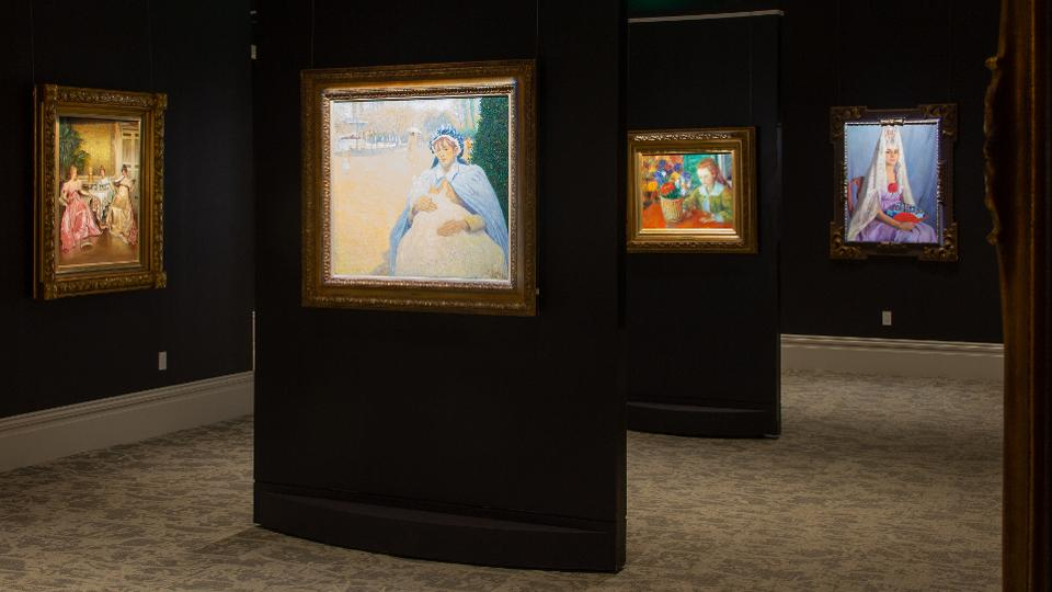 One of many newly renovated galleries at M.S. Rau highlights masterworks from its painting collection.