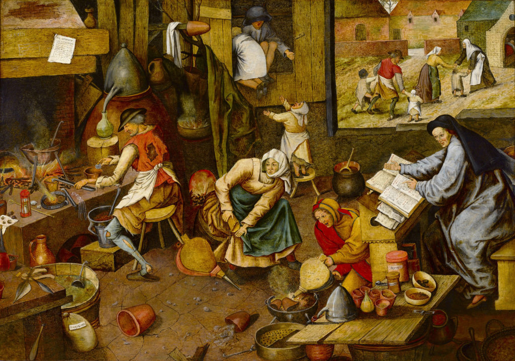 The Alchemist by Pieter Brueghel the Younger. Circa 1600.