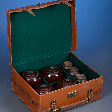 Historic Set of Lawn Bowls Presented to Herbert Hoover