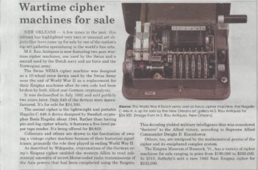 Antique Cipher Machine