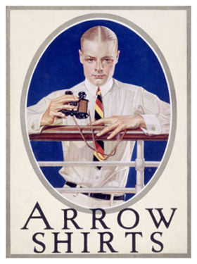 "An ""Arrow Collar Man"" advertisement, circa 1920"