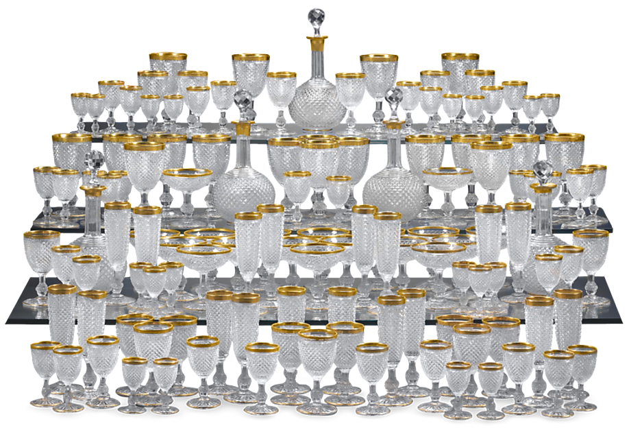 The 128-piece Baccarat Crystal Service. Large services of Baccarat crystal are almost unheard of, making this set all the more exceptional.