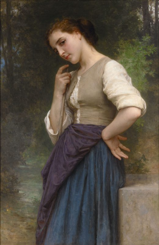 This exquisite portrait is the work of French academic great William Bouguereau