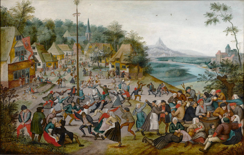 St. George's Kermis with the Dance Around the Maypole by Pieter Brueghel the Younger. Oil on panel.