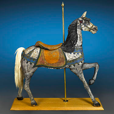 The C.W. Dare Carousel Horse. Among carousel antiques, those created by Dare are some the oldest and most coveted among collectors.
