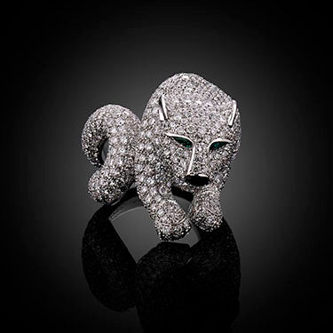 The Panther diamond ring by Cartier