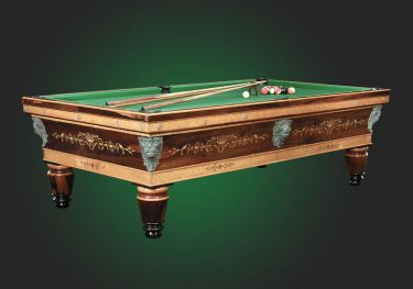 Billard table created by the Chevillotte firm of Orleans, France