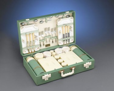 The motor picnic set made for and owned by Lady Sarah Churchill, daughter of Sir Winston Churchill.